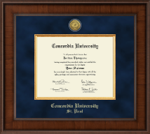 Concordia University Saint Paul Minnesota Diploma Frame - Presidential Gold Engraved Diploma Frame in Madison