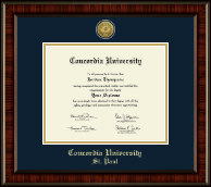 Concordia University Saint Paul Minnesota Diploma Frame - Gold Engraved Medallion Diploma Frame in Ridgewood