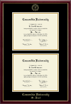 Concordia University Saint Paul Minnesota Diploma Frame - Double Diploma Frame in Galleria