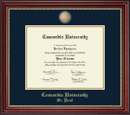 Concordia University Saint Paul Minnesota Diploma Frame - Masterpiece Medallion Diploma Frame in Kensington Gold