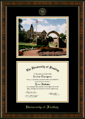 The University of Findlay Diploma Frame - Campus Scene Edition Diploma Frame in Brentwood