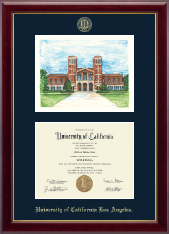 University of California Los Angeles Diploma Frame - Royce Hall Campus Scene Edition Diploma Frame in Gallery