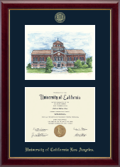 University of California Los Angeles Diploma Frame - Powell Library Campus Scene Edition Diploma Frame in Gallery