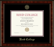 Reed College Diploma Frame - Gold Embossed Diploma Frame in Ridgewood