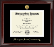 Michigan State University Diploma Frame - 23K Medallion Diploma Frame in Encore