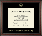 Humboldt State University  Diploma Frame - Gold Embossed Diploma Frame in Studio