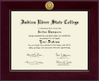 Indian River State College Diploma Frame - Century Gold Engraved Diploma Frame in Cordova