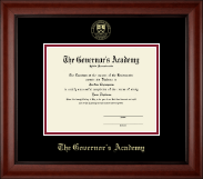 The Governor's Academy Diploma Frame - Gold Embossed Diploma Frame in Cambridge