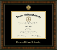 Western Michigan University Diploma Frame - Gold Engraved Medallion Diploma Frame in Brentwood