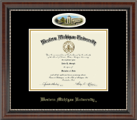 Western Michigan University Diploma Frame - Campus Cameo Diploma Frame in Chateau