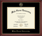 Wake Forest University Diploma Frame - Masterpiece Medallion Diploma Frame in Kensington Gold