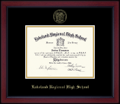 Lakeland Regional High School Diploma Frame - Gold Embossed Achievement Edition Diploma Frame in Academy