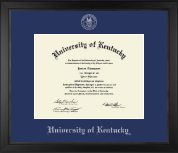 University of Kentucky Diploma Frame - Silver Embossed Diploma Frame in Arena