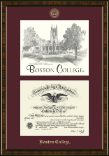Boston College Diploma Frame - Campus Scene Edition Diploma Frame in Brentwood