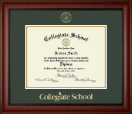Collegiate School  Diploma Frame - Gold Embossed Diploma Frame in Cambridge
