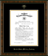 United States Military Academy Certificate Frame - Gold Embossed Commission Certificate Frame in Brentwood