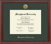 Mercyhurst University  Diploma Frame - Gold Engraved Medallion Diploma Frame in Signature