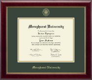 Mercyhurst University  Diploma Frame - Gold Embossed Diploma Frame in Gallery
