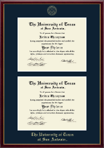 The University of Texas San Antonio Diploma Frame - Double Document Diploma Frame in Galleria