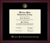 Wallace State Community College Diploma Frame - Gold Embossed Diploma Frame in Academy