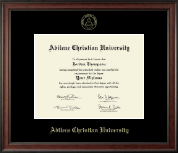 Abilene Christian University Diploma Frame - Gold Embossed Diploma Frame in Studio