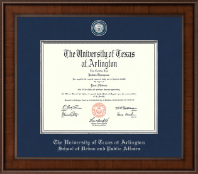 The University of Texas Arlington (UTA) Diploma Frame - Presidential Masterpiece Diploma Frame in Madison