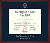 The University of Texas Arlington (UTA) Diploma Frame - Silver Embossed Diploma Frame in Academy