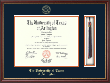 The University of Texas Arlington (UTA) Diploma Frame - Tassel Edition Diploma Frame in Newport