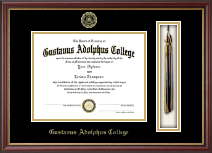 Gustavus Adolphus College Diploma Frame - Tassel Edition Diploma Frame in Newport