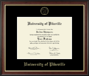 University of Pikeville Diploma Frame - Gold Embossed Diploma Frame in Studio Gold