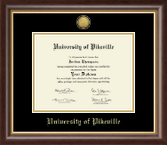 University of Pikeville Diploma Frame - Gold Engraved Medallion Diploma Frame in Hampshire