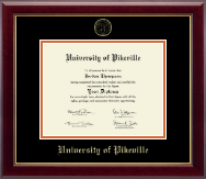 University of Pikeville Diploma Frame - Gold Embossed Diploma Frame in Gallery