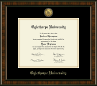 Oglethorpe University  Diploma Frame - Gold Engraved Medallion Diploma Frame in Brentwood