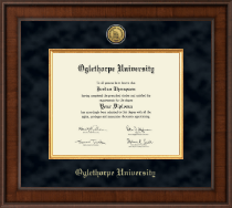 Oglethorpe University  Diploma Frame - Presidential Gold Engraved Diploma Frame in Madison