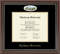 Oglethorpe University  Diploma Frame - Campus Cameo Diploma Frame in Chateau
