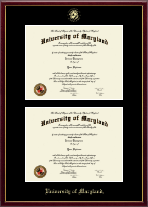 University of Maryland, College Park Diploma Frame - Double Diploma Frame in Galleria