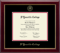 D'Youville College Diploma Frame - Gold Embossed Diploma Frame in Gallery
