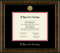 D'Youville College Diploma Frame - Gold Engraved Medallion Diploma Frame in Brentwood