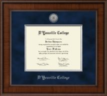 D'Youville College Diploma Frame - Presidential Silver Engraved Diploma Frame in Madison