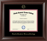 North Central Texas College Diploma Frame - Gold Embossed Diploma Frame in Rainier
