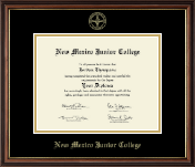 New Mexico Junior College Diploma Frame - Gold Embossed Diploma Frame in Williamsburg