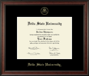 Delta State University  Diploma Frame - Gold Embossed Diploma Frame in Studio