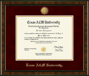 Texas A&M University Diploma Frame - 23K Medallion Diploma Frame in Brentwood