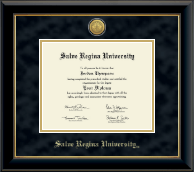 Salve Regina University  Diploma Frame - Gold Engraved Medallion Diploma Frame in Onyx Gold