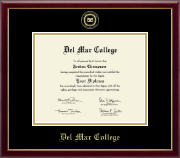 Del Mar College Diploma Frame - Gold Embossed Diploma Frame in Galleria