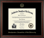 Southwestern Assemblies of God University Diploma Frame - Gold Embossed Diploma Frame in Studio