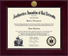 Southwestern Assemblies of God University Diploma Frame - Century Gold Engraved Diploma Frame in Cordova