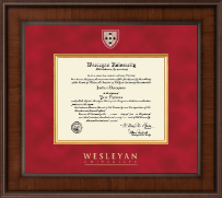 Wesleyan University Diploma Frame - Presidential Masterpiece Diploma Frame in Madison