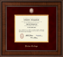 Union College in New York Diploma Frame - Presidential Masterpiece Diploma Frame in Madison