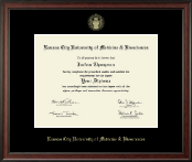 Kansas City University of Medicine and Biosciences Diploma Frame - Gold Embossed Diploma Frame in Studio